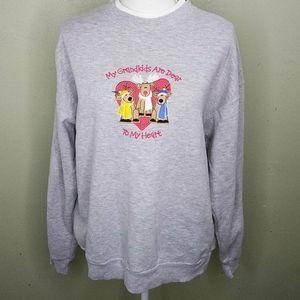 """My Grandkids Are Dear"" Gray Sweatshirt L"